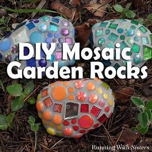 DIY Mosaic Garden Rocks - BigDIYIdeas com