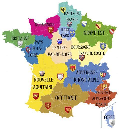 Carte Nouveau Monde 2017 by Carte Des R 233 Gions De 2017 187 Vacances Arts Guides