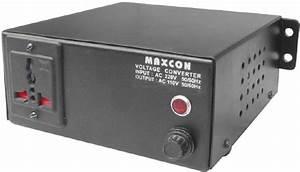 Mx 220v To 110v Voltage Converter  500 Watts  1 Socket