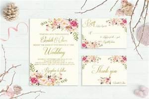 floral wedding invitation printable boho chic wedding With free printable spring wedding invitations