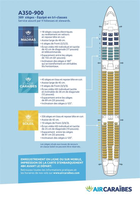 reservation siege air caraibes plan cabine de notre airbus a350 900 air caraïbes