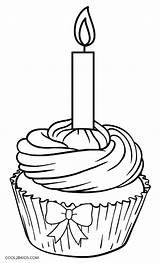 Cupcake Coloring Pages Birthday Cupcakes Drawing Printable Template Muffin Happy Cool2bkids Kleurplaat Colouring Cakes Drawings Ice Cream Blueberry раскраски Getdrawings sketch template