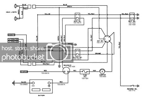 wiring diagrahm  huskee riding lawn mower lawnsite