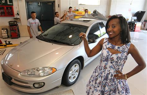 car donations for single mothers lajeunesse students donate vehicle to single