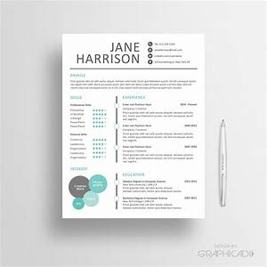 modern creative resume templates etsy creative resume With etsy website templates