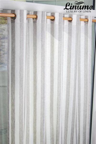 gardinen aus leinen leinen gardine weiss natur gestreift 145x235cm m05c33215 leinenbettw 228 sche linumo linumo