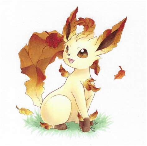 pumpkin spice leafeon art  rycanine pokemon
