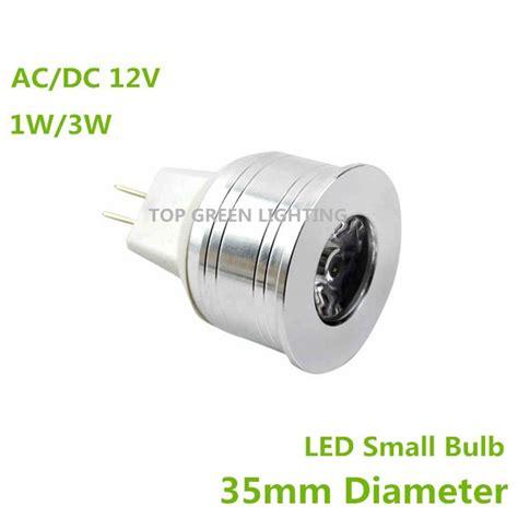 2pcs mini led bulb 12 volt 35mm mr11 1w 3w 5w led