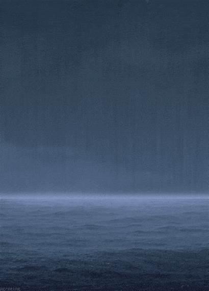 Rain Sea Animated Raining Submarine Gifs Water