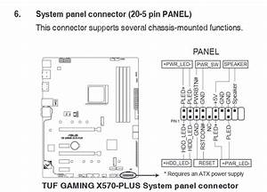 X570 Asus Tuf Gaming Front Panel Io - Troubleshooting
