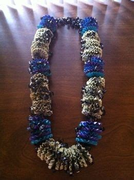 money lei     recycled necklace papercraft