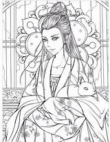 Coloring Pages Drawing Stress Adults Books Painting Adult Children Drawings Garden Colouring Chinese Antiquity Cartoon Secret Relieve Pencil Watercolor Ancient sketch template