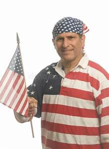 Man Wearing American Flag Shirt Royalty Free Stock ...