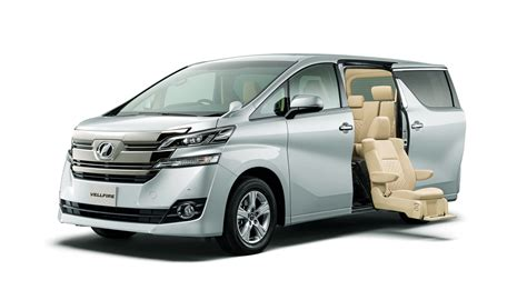a toyota toyota unveils new alphard and vellfire minivans in japan