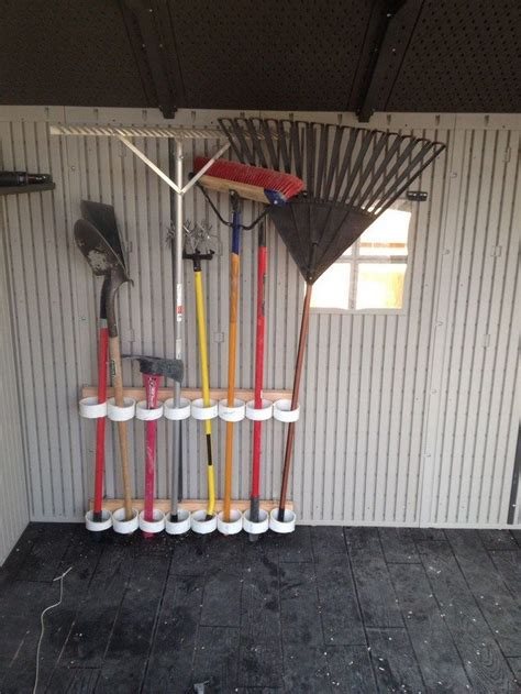 build  yard tool organizer  pvc diy projects