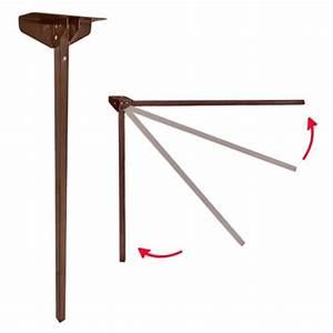 Pied De Table Pliant : pied de table 715 mm repliable marron camping car caravane ~ Teatrodelosmanantiales.com Idées de Décoration
