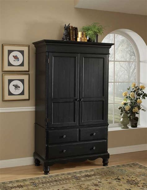 hillsdale wilshire armoire rubbed black hd