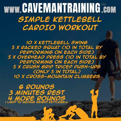 cardio kettlebell workout simple workouts beginner wod kettlebells basic