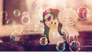 Romantic love couple cartoon wallpapers & pictures
