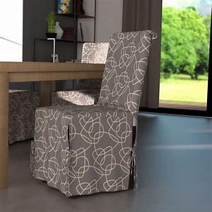 Housse De Chaise But : housse de chaise graphique gris et motif blanc housse de ~ Dailycaller-alerts.com Idées de Décoration