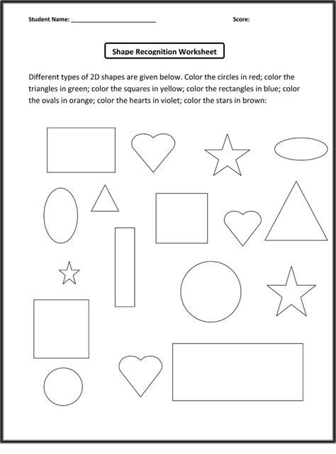 color  shapes worksheet loving printable