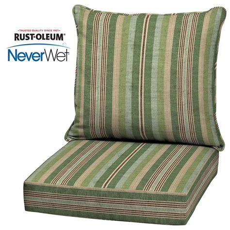 allen roth neverwet  piece stripe green deep seat patio