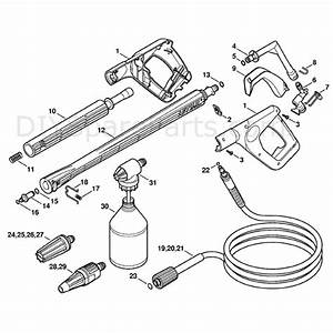 Stihl Re 117 Pressure Washer  Re 117  Parts Diagram  Spray Gun