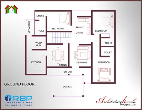 style floor plans 2 bedroom house plans kerala style 1200 sq savae org