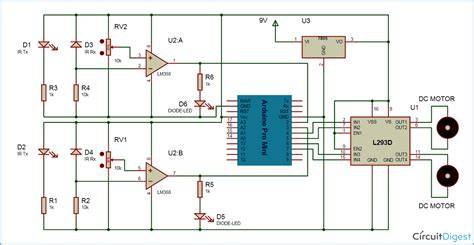 Home Electrical Wiring Diagram Visit The Following Link For by Line Follower Robot Using Arduino Circuit Diagram