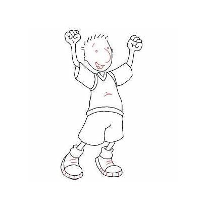 Draw Doug Funnie Step Nickelodeon Drawing Characters