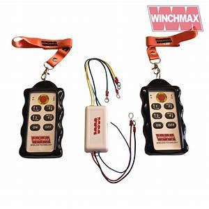 Winchmax 4 X Channel Winch Remote Wireless Twin Handset 12
