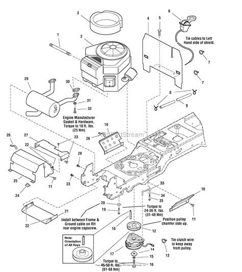 16 Hp Brigg Part Diagram by Simplicity 1694028 2616 16hp Hydro Parts Diagram For
