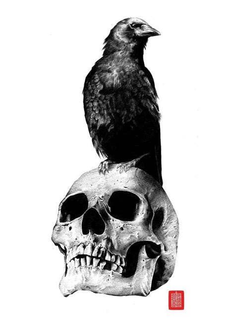 Crow+skull tattoo, inspired by Sons of Anarchy | Tatuagem