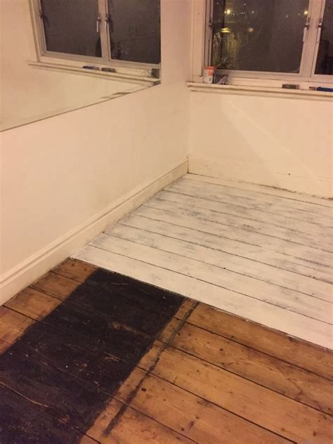How To Paint Floorboards White with Rust Oleum   We Made