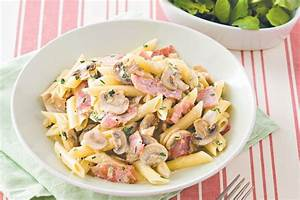 Creamy Ham And Mushroom Pasta Recipe Taste com au