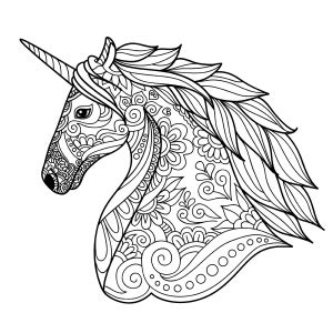 unicorns coloring pages  adults