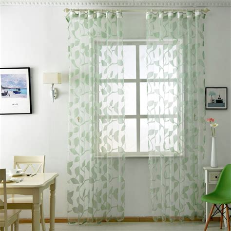 design kitchen curtains panel leaf white sheer design curtain curtains modern 3179