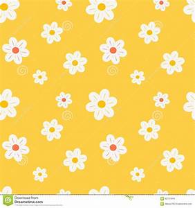 Colorful Orange White And Yellow Daisy Flowers Seamless ...