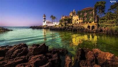 Villa Lighthouse Sea Lighthouses Views Gulf Wallpapers