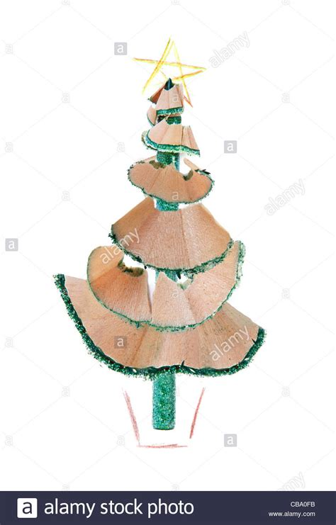 pencil drawings christmas trees office tree made out of a pencil and sharpening a coloured stock photo royalty free