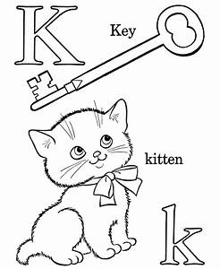 farm alphabet abc coloring page letter k educational With letter coloring books