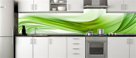 lime green kitchen splashback 35 k 252 chenr 252 ckw 228 nde aus glas opulenter spritzschutz f 252 r 7102