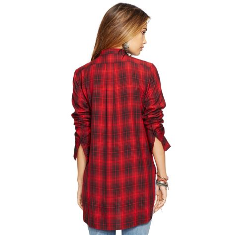 denim supply ralph plaid tuxedo shirt in caleb plaid lyst