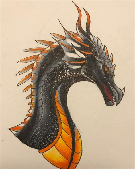 Have fun drawing from these 50 selected dragon drawing tutorials. insatgran posyte yesas | Wings of fire dragons, Wings of ...