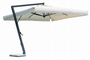 Parasol Grande Taille : grand parasol d port pour terrasse restaurant en alu gris anthracite ~ Melissatoandfro.com Idées de Décoration