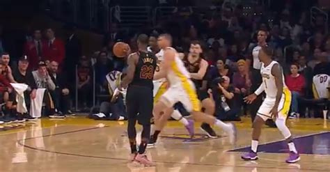lebron james pulled  crazy fake  tossed  hand