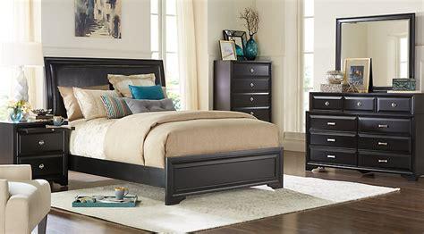 size sleigh bedroom sets belcourt black 5 pc king upholstered bedroom king