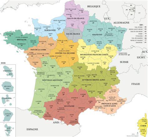 Carte De Avec Les Nouveaux Départements by Fond De Carte R 233 Gions Et D 233 Partements Avec Noms