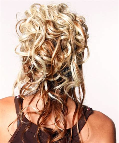 curly formal hairstyles half up long curly formal
