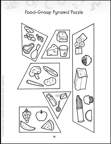 free coloring pages of four food groups